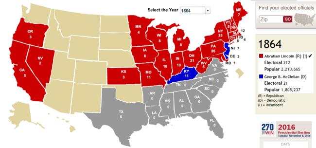 electoral 1864