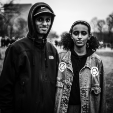 A young black man and woman, 2017.